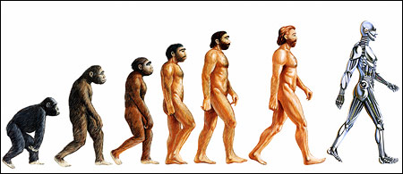 Progression of man--from apes to humans
